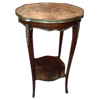 Louis XV Style Gilt and Marble-Top Gueridon or Side Table, Early 20th Century For Sale