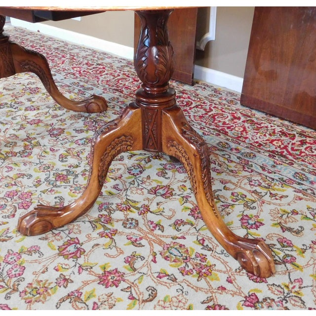Chippendale Mahogany Banded Dining Room Table - Image 5 of 9