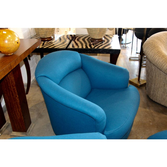 Pair of Chairs With Ottoman From Directional For Sale In Palm Springs - Image 6 of 10