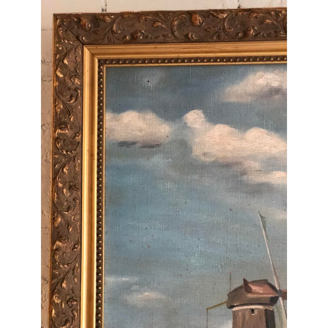 Canvas Antique Continental Impressionist Oil Painting For Sale - Image 7 of 13