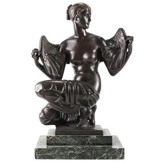 """""""Philomela"""" a Bronze Sculplture of a Winged Beauty by John Gregory For Sale"""