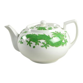 1960s Hammersley Green Dragon Teapot & Lid For Sale
