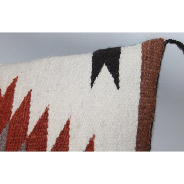 Navajo Indian saddle blanket weaving pillows in browns and geometric patterns. These two different pillows are in great...