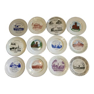 Vintage Mid-Century Alabama Church Plates - Set of 12 For Sale