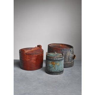 Set of Three Folk Art Wood Pieces, Sweden, 19th Century