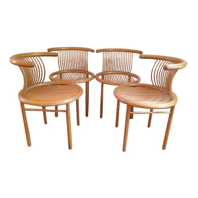 Helmut Lubke Mid-Century Sculptural Chairs - Set of 4 For Sale