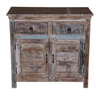 Rustic Amber Wooden Cabinet