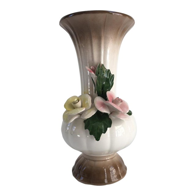 Vintage Italian Crown Capodimonte Vase Chairish