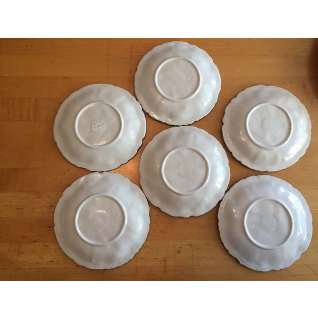 Vietri Lettuce/Cabbage Plates, Ceramic, Green - Set of 6 For Sale - Image 6 of 8