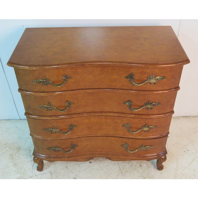 French Louis XVI Burlwood Commode For Sale - Image 3 of 4