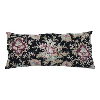 French Victorian Floral Body Pillow For Sale