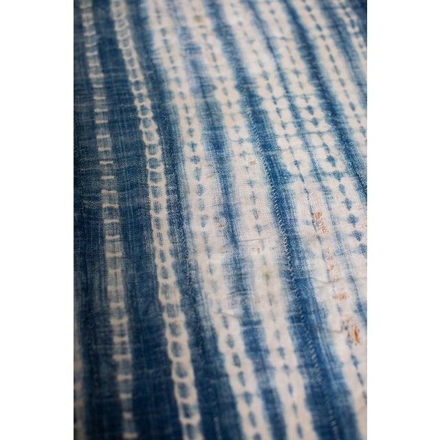 Vintage Batik Blue Throw - Image 3 of 5