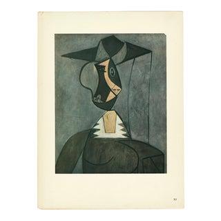 """1943 Picasso, Original """"Femme Au Chapeau"""" Lithograph For Sale"""