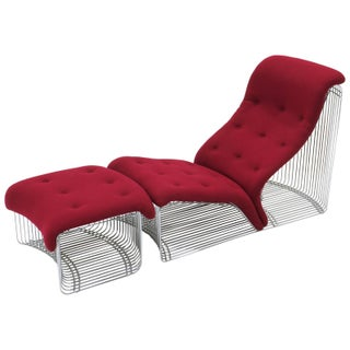 Pantonova Chaise or Chair and Ottoman by Verner Panton, Fine and Rare Example Preview