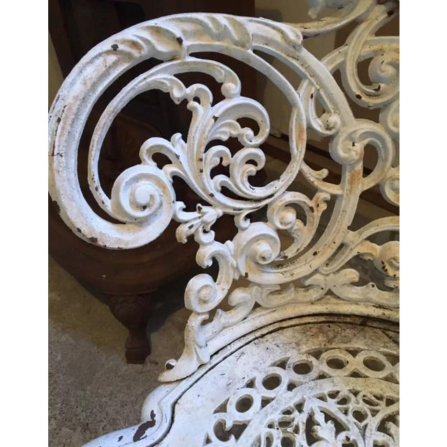 American Victorian Cast Iron Garden Benches - A Pair - Image 8 of 11