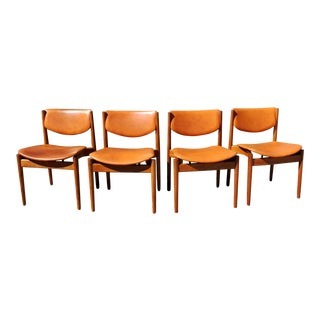 1960s Vintage Original Finn Juhl Model 197 Teak Danish Dining Chairs-Set of 4 For Sale