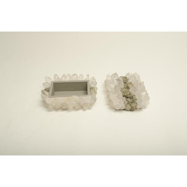 Modern Rock Crystal and Pyrite Jewelry Box For Sale - Image 3 of 7