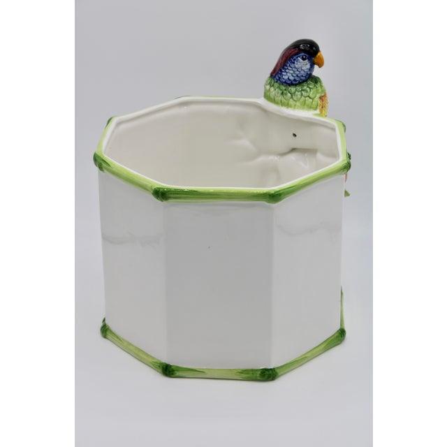 1960s Large Italian Ceramic Parrot Planter For Sale In Tulsa - Image 6 of 13