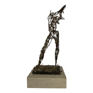 Clyde Ball Bronze Metal Stick Abstract Figure For Sale