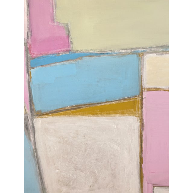 """Contemporary """"A Hop, Skip, and a Jump"""" Contemporary Abstract Acrylic Painting by Sarah Trundle For Sale - Image 3 of 3"""