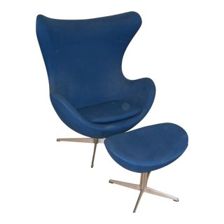 Arne Jacobsen for Fritz Hansen Egg Chair & Ottoman For Sale