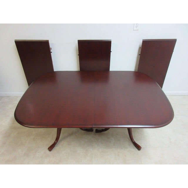 Pennsylvania House Pennsylvania House Cherry 3-Board Pedestal Dining Table For Sale - Image 4 of 11