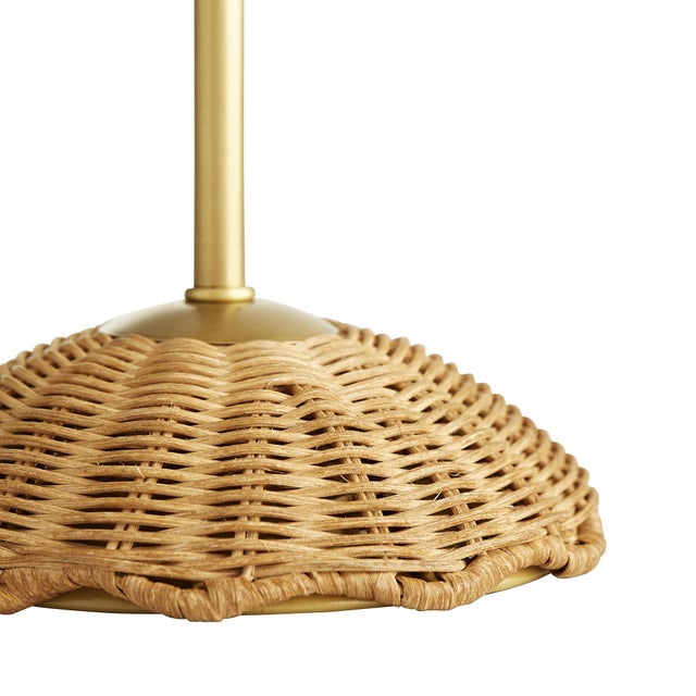 Handwoven, rattan wicker is just as Caribbean in its style as it is sophisticated. The shade and base are both made of...