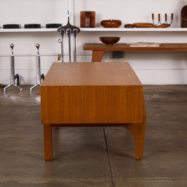 Wood Single Bench With Storage by John Keal for Brown Saltman For Sale - Image 7 of 12
