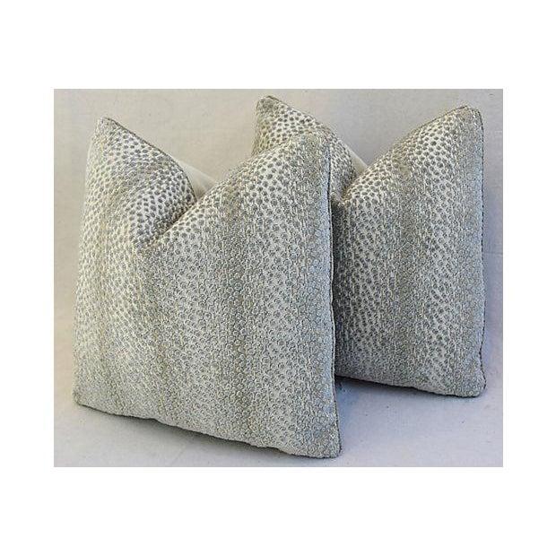 Down Pillows Animal Cruelty : Schumacher Animal Spot Linen Velvet Feather/Down Pillows - Pair Chairish