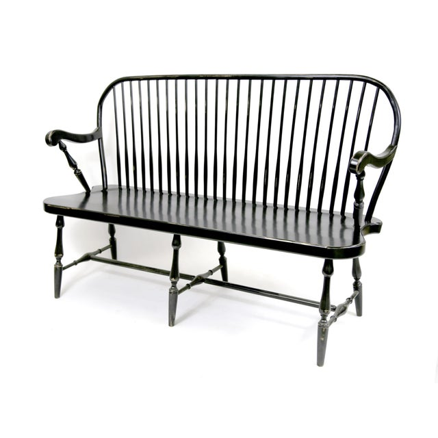 Traditional Windsor Style Amish Bench - Image 2 of 11