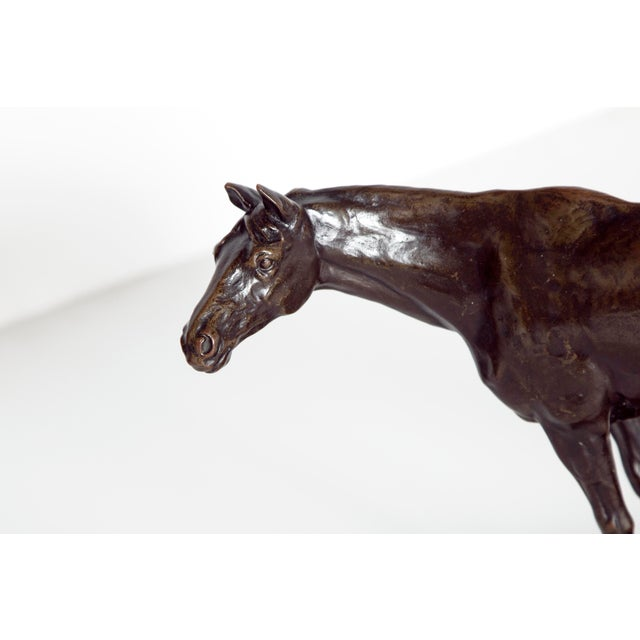 Gold Early 20th Century Austrian Bronze Standing Horse by Ferdinand Lugerth For Sale - Image 8 of 13
