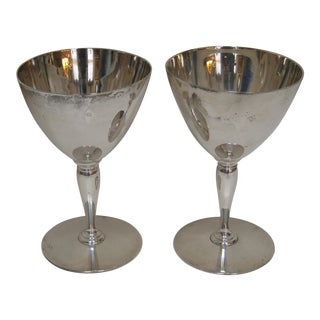 Vintage Tiffany & Company Sterling Silver Wine Goblets - a Pair For Sale