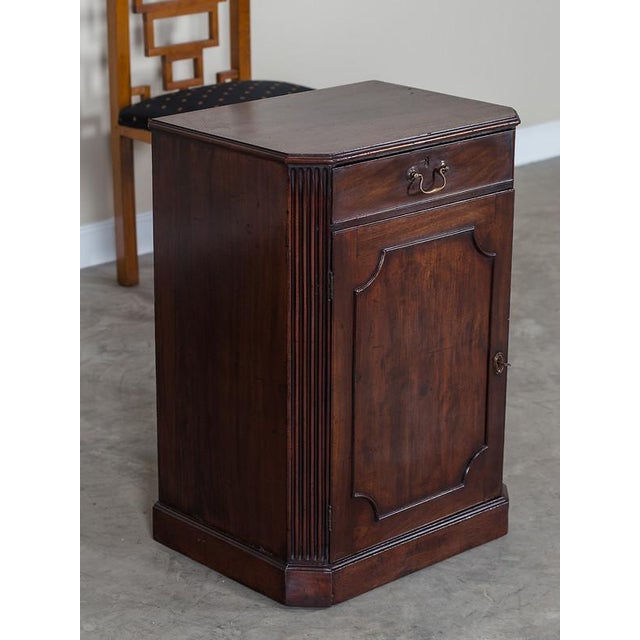 George III Antique English Mahogany Cabinet circa 1780 For Sale - Image 4 of 10