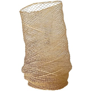 Linda Kelly Contemporary Woven Basket Standing Floor Art Sculpture For Sale