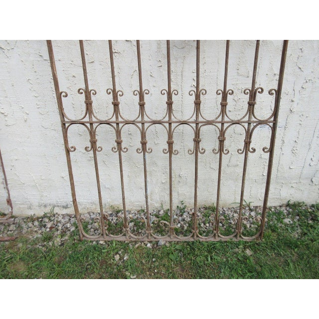 Victorian Antique Victorian Iron Gate For Sale - Image 3 of 6