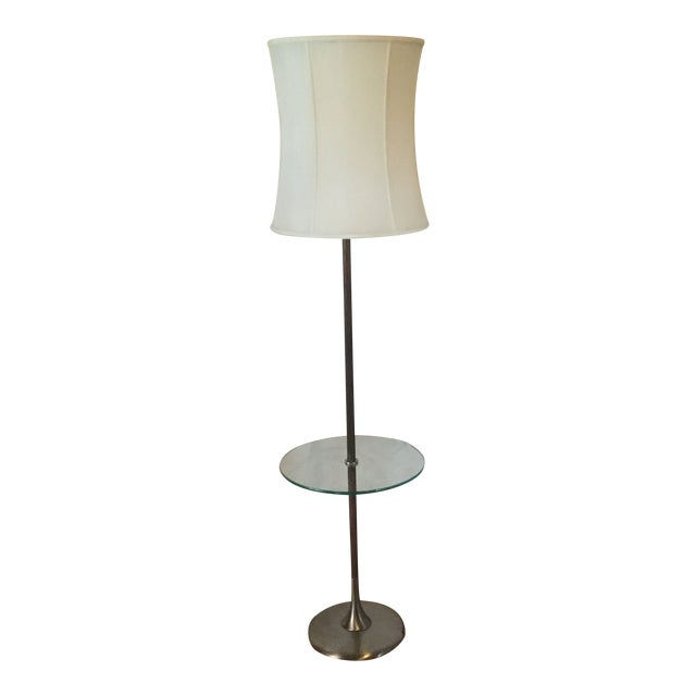1960s Iconic Tulip Base Walnut Floor Lamp For Sale