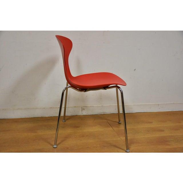 Chrome Bernhardt Modern Red Chrome Desk Chair For Sale - Image 7 of 9