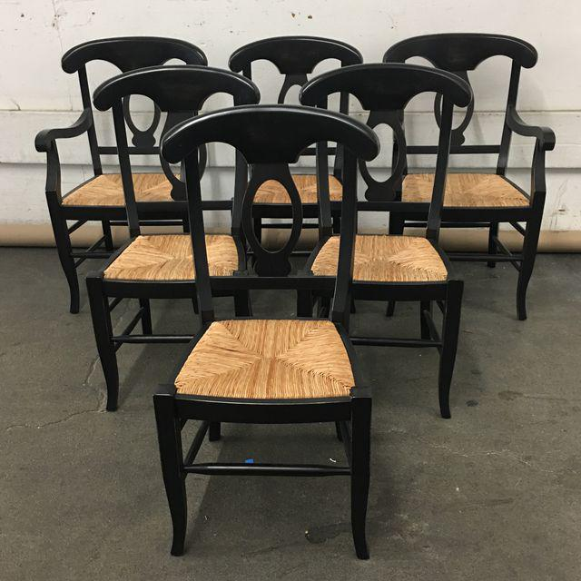Pottery Barn Napoleon Dining Chairs - Set of 6 - Image 2 of 9