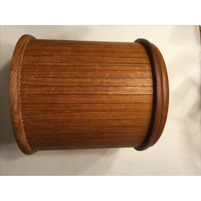 Mid-Centry Teak Panel Ice Bucket - Image 3 of 9