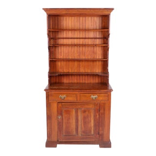Antique Plate DIsplay Cupboard For Sale
