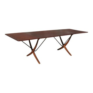 Hans J Wegner for Andreas Tuck At-304 Vintage 1960s Dining Table For Sale