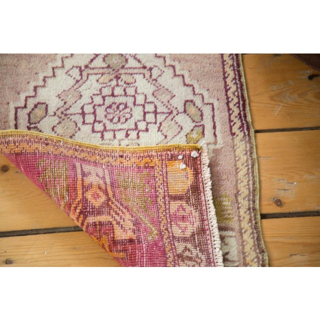 Mauve and Tan Vintage Oushak Rug - 1′5″ × 2′8″ - Image 6 of 6