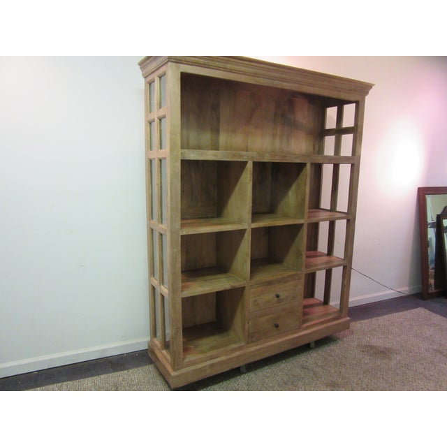Country Large French Country Open-Front Cupboard For Sale - Image 3 of 10