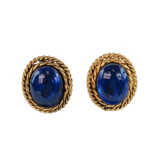 1970s Chanel Glass Earrings For Sale