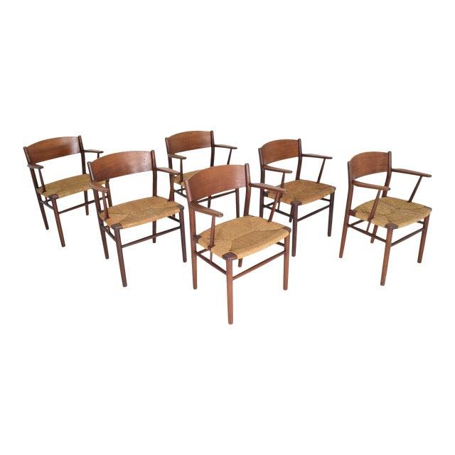 Børge Mogensen Dining Chairs by Søborg Møbelfabrik in Denmark - Set of 6 For Sale