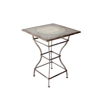 Vintage Mosaic Bar Table For Sale