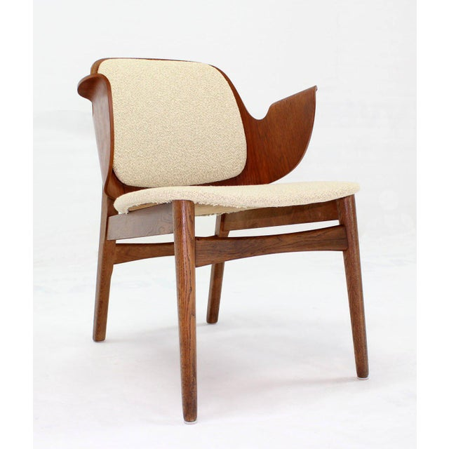 Mid-Century Modern Molded Plywood Barrel Back Armchair with New Upholstery For Sale - Image 10 of 10