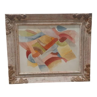 Framed Abstract Watercolor Painting For Sale