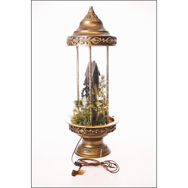 Mid Century Hollywood Regency Mineral Oil Rain Lamp - Image 3 of 11