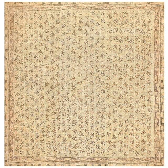 Antique Turkish Oushak Square Rug - 14′3″ × 14′8″ For Sale In New York - Image 6 of 6